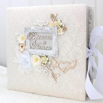 Большой воздушный свадебный фотоальбом , скрапбукинг свадебный альбом