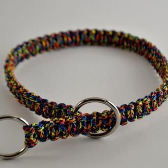 Multi-colored Choke collar, Цветной ошейник-удавка из паракорда