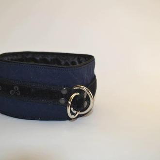 Dark Blue Poodle's Collar. Mod. Mary Ошенийк для Пуделя