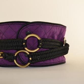 Purple Poodle's collar, mod. Helen, Ошейник для Пуделя