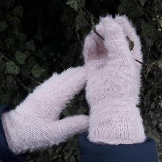 Женские перчатки вязаные