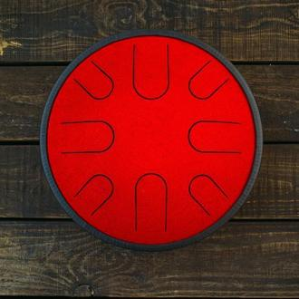 "Глюкофон ""Сатурн Красный Дракон"" аналог Ханг драм, Hapi , Happy Drum Hang (Natural Minor) 8 нот"