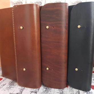 Кожаный ежедневник/блокнот с кольцевым механизмом