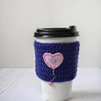 Вязаный чехол на чашку Грелки для чашек Подарок любимой