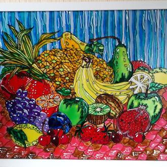 Картина витражными красками