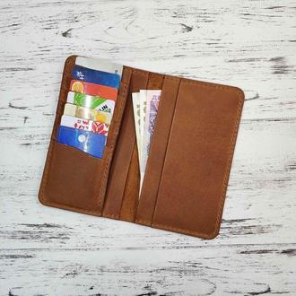 Бумажник Stedley Ostrek 2 кожаный коричневый