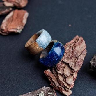 «Эльза», Кольцо из дерева и ювелирной смолы, Кольца для женщин и мужчин, подарок
