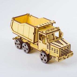 Игрушка . 3D пазл, конструктор, модель «Самосвал»
