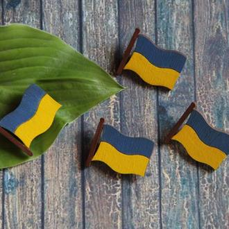Патриотическая брошка - украинский флаг