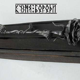 Кованная роза Кована троянда Роза металическая Металева троянда