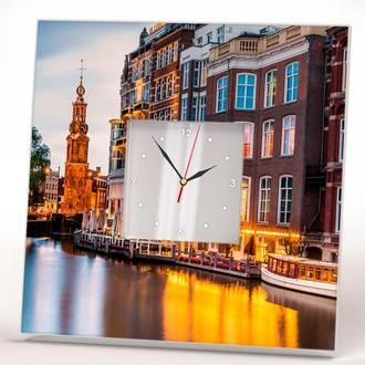 "Часы с рисунком ""Амстердам"""