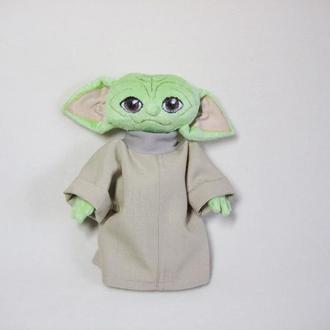 Беби Йода мягкая плюшева игрушка, подарок для мальчика, герой Звездных войн малыш Йода