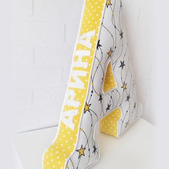 Мягкие буквы-подушки, буквы с засечками, мягкая буква А