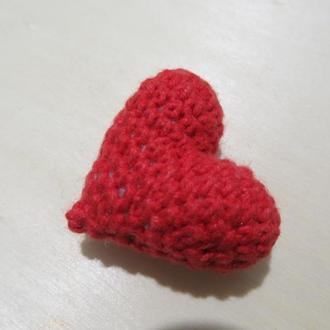 Сердце вязаное. 3d объёмное. Валентинка