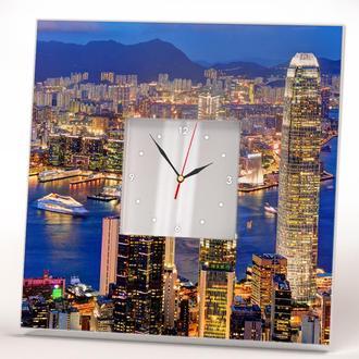 """Красивые фото часы """"Гонконг"""""""