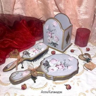 Набор для дамского столика «Нежные розы»