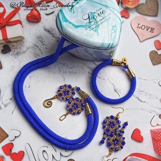 Комплект украшений Королевский синий