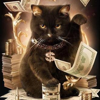 """Набір алмазної вишивки """"Грошовий кіт"""""""