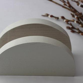 салфетница белая деревянная