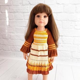 Одяг на ляльку Готц 50 см, в'язане плаття на ляльку, подарунок дівчинці
