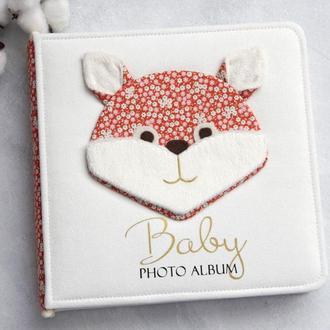 Дитячий альбом Лисичка, Альбом для малышей, Детский скрап альбом Лиса, Мой первый альбом в наличии