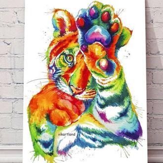 Тигр - интерьерная картина на холсте