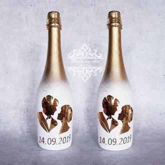 Декор шампанского на свадьбу