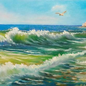 "Картина маслом ""Морський пейзаж"""