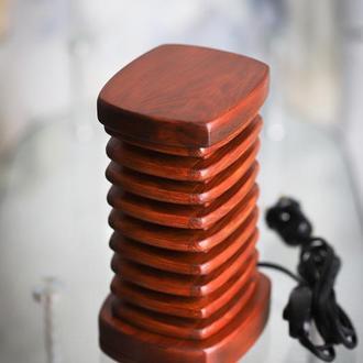 """Светильник - ночник из дерева """"Башня"""""""