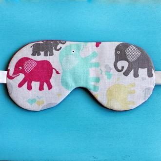 Маска для сна со слониками