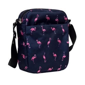 Жіноча сумка-месенджер з принтом фламінго