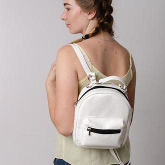 Женский белый рюкзак-сумка, 2 в 1