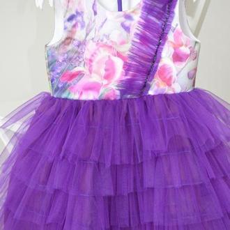 Оригинальное нарядное платье для девочки