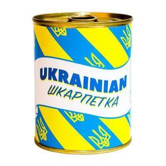 Консерва-носок Ukrainian шкарпетка желтый