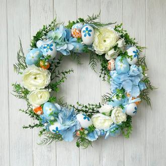 Весняний вінок у біло-блакитному кольорі
