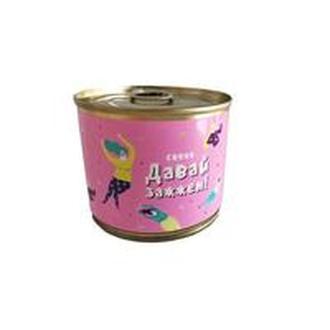 Свеча-консерва Давай зажжем розовый S