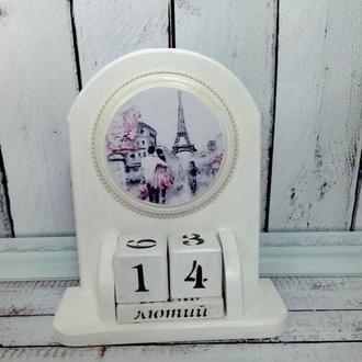 """вечный календарь """"Париж"""""""