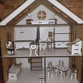 Домик для кукол с мебелью, кукольный домик, для лол, будинок для ляльки