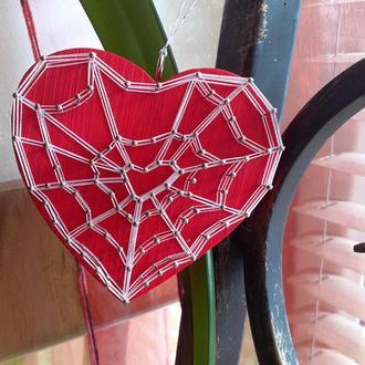 подвес Сердце-паутинка