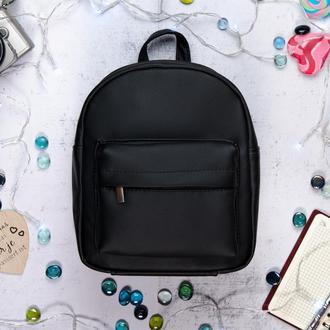 Женский черный рюкзак для учебы