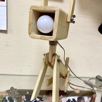 """Настольная лампа - трансформер из дерева """"ПЕСо"""""""