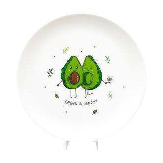 Тарелка Авокадо зеленый
