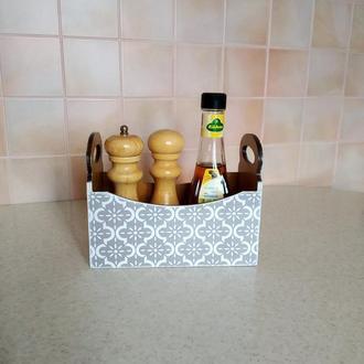 Короб для специй на кухню,техника декупаж.