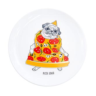 Тарелка Пицца-мопс зеленый