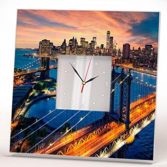 """Часы настенные """"Гудзон. Нью Йорк"""""""