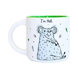Чашка I'm hot 350мл зеленый