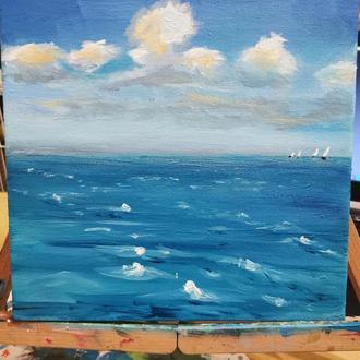 Картина, Холст, пейзаж, море