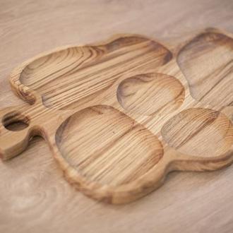 Менажница деревянная для подачи блюд