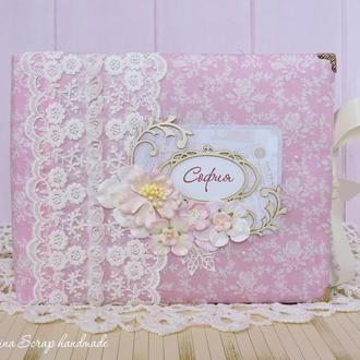 Детский фотоальбом для новорожденной девочки Rosebud