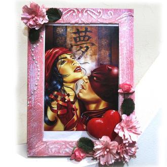 открытка-фоторамка. оригинальное дополнение к подарку на  день рождения  или свадьбу